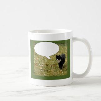 Sagen Sie etwas kundengerechter Katzen-Entwurf Kaffeetasse