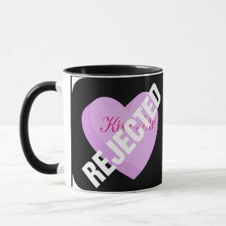 Sagen Sie glückliche Valentinsgrüße mit Ablehnung Tasse