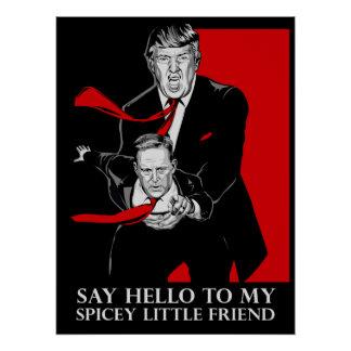 Sagen Sie hallo zu meinem Spicey kleinen Poster
