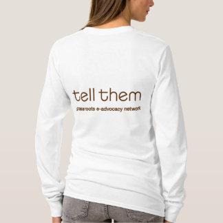 Sagen Sie ihnen großer Bienen-Front dünnes T-Shirt