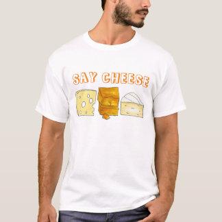 Sagen Sie Käse-Briekäse-Cheddarkäse-Schweizer T-Shirt