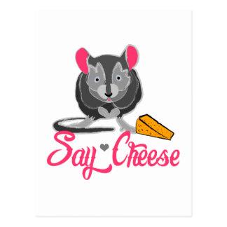 Sagen Sie Käse-Maus Postkarte