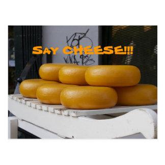 Sagen Sie Käse-Postkarte Postkarte