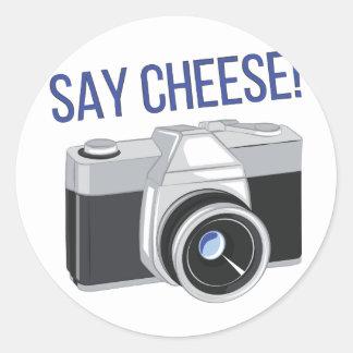 Sagen Sie Käse Runder Aufkleber