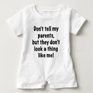 Sagen Sie meinen Eltern Bodysuit nicht Baby Strampler
