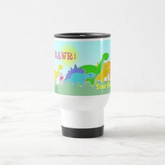 Sagen Sie Rawr! Dinosaurier zurück zu Reisebecher