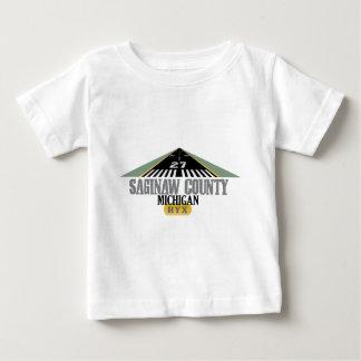 Saginaw County - Flughafen-Rollbahn Baby T-shirt