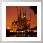 Sagrada Familia, Barcelona - Spanien Poster