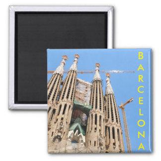 Sagrada Familia in Barcelona, Spanien Quadratischer Magnet