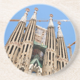Sagrada Familia in Barcelona, Spanien Sandstein Untersetzer