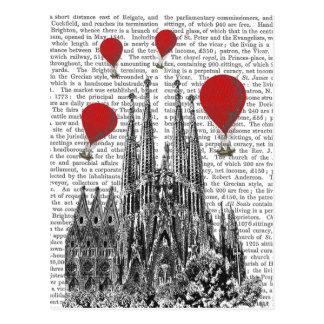 Sagrada Familia und glühende Luft-Ballone Postkarte