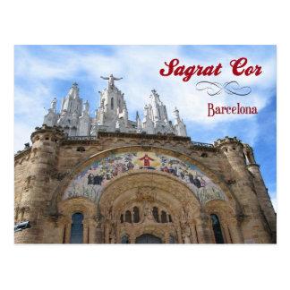Sagrat Herz, Barcelona, Spanien Postkarte