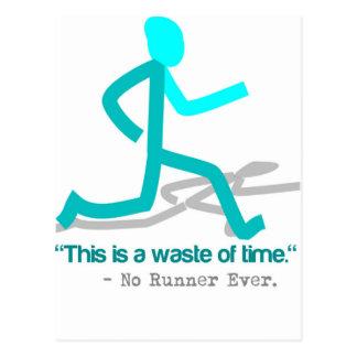Sagte keinen Läufer überhaupt Postkarte