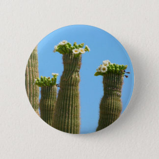 Saguaro-Kaktus-Blüten Runder Button 5,7 Cm