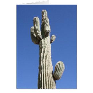 Saguaro-Kaktus und blauer Himmel Karte