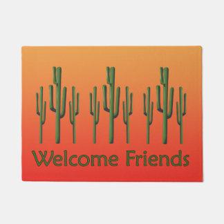 Saguaro-Kaktus-Wüsten-Sonnenuntergang-Fußmatte Türmatte