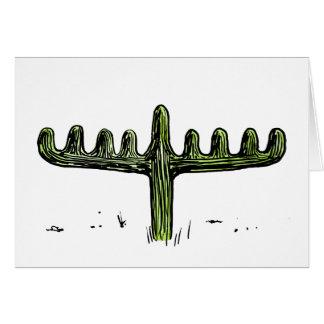 Saguaro Menorah Chanukka Karte