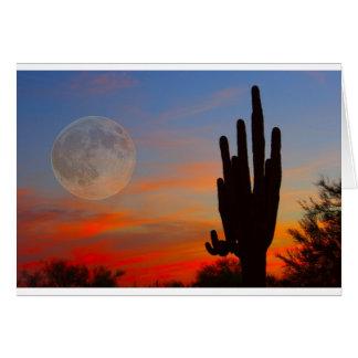 Saguaro-Vollmond-Sonnenuntergang Karte