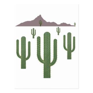 Saguaro-Weihnachtslichter Postkarte
