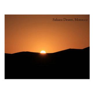 Sahara-Wüste, Marokko Postkarte