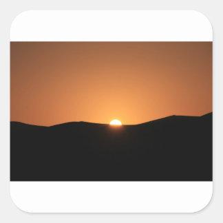 Sahara-Wüste, Marokko Quadratischer Aufkleber