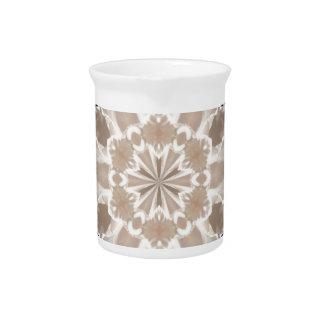 Sahne- und beige Milchkaffeeabstrakte Kunst Getränke Pitcher