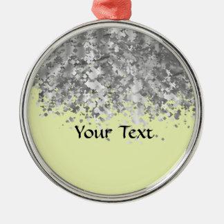 Sahnegelb- und Imitat-Glitter personalisiert Silbernes Ornament