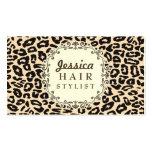 Sahneleopard-Druck-Haar-Stylist-Verabredungs-Karte