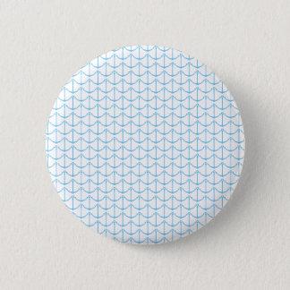 Sahnige blaue Seeanker Runder Button 5,7 Cm
