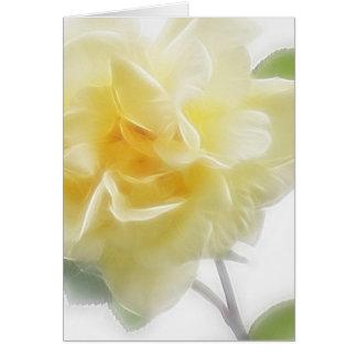 Sahnige gelbe Rose 2 Karte