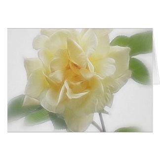 Sahnige gelbe Rose Karte