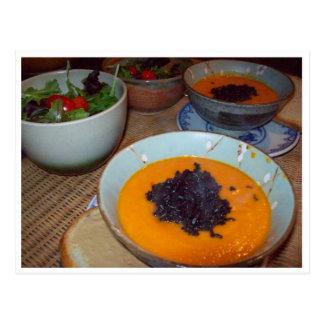 Sahnige Karotten-Suppe Postkarte