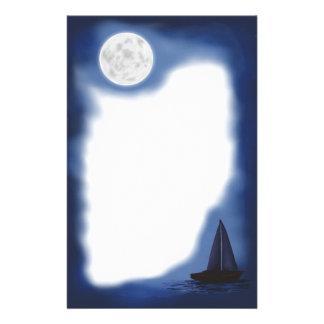 Sailboat~ ~Moonlight der Mond des Seemanns Briefpapier