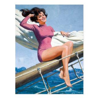 Sailing PinUp Postkarten
