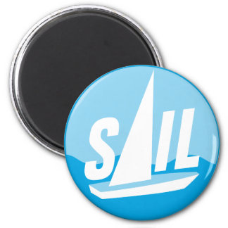 sailing runder magnet 5,7 cm