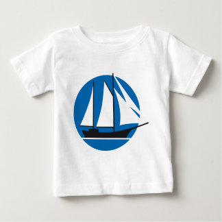 sailing ship baby t-shirt