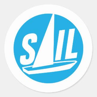 sailing ship runder aufkleber