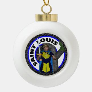 Saint Louis IX Keramik Kugel-Ornament