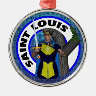 Saint Louis IX Silbernes Ornament