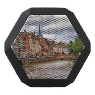 Saint Nicolasdock in Straßburg, Frankreich Schwarze Bluetooth Lautsprecher