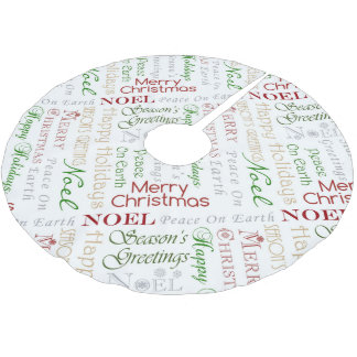 Saisongrüße Polyester Weihnachtsbaumdecke