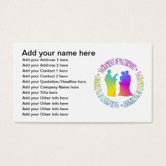 Sakrament des Ehestands Visitenkarte