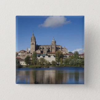 Salamanca-Kathedralen und Stadt 2 Quadratischer Button 5,1 Cm