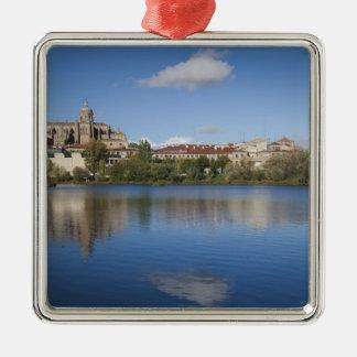 Salamancakathedralen und -stadt quadratisches silberfarbenes ornament