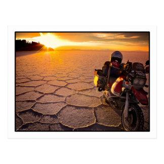 Salar-Sonnenuntergang-Postkarte Postkarte