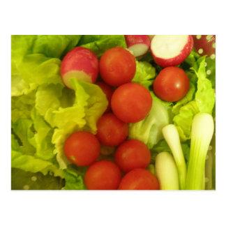 Salat-Gemüse-Postkarte Postkarte