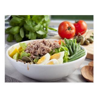 Salat Nicoise Postkarte