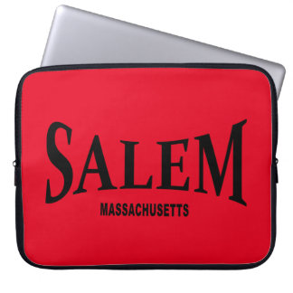 Salem Massachusetts - black print Laptop Sleeve