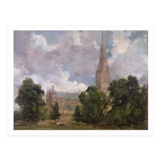 Salisbury-Kathedrale vom Südwesten Postkarte