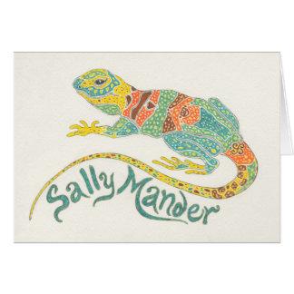 Sally Mander die Eidechse Notecard Karte